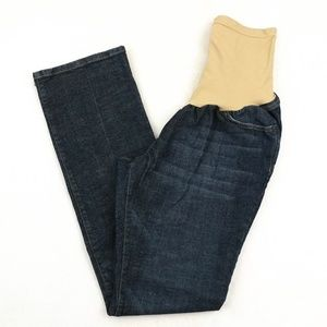 Indigo Blue Full Panel Belly Band Bootcut Jeans XL